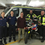 David Moore and paramedics