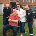 Gerry McMahon and paramedics